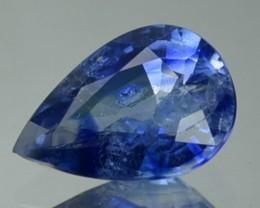 0.92 Cts Natural Corundum Blue Sapphire pear Africa