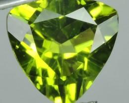 2.75 cts High Best Natural Apple Green Trillion Pakistan Peridot
