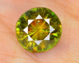 2.60 ct SUPERB DAIMOND CUT FIRE AND SPARK CHROME SPHENE