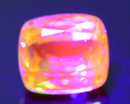Rare Fluorescent 1.12 ct Grossular Mint Garnet Merelani Tanzania  SKU 1