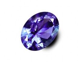 0.97 ct IF Clarity Rich  And Deep True Violet Blue Natural Tanzanite