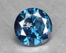 0.11 Cts Natural Titanium Blue Diamond Round Africa