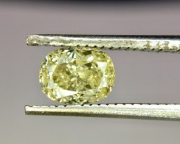 0.76 Crt GIL Certified Natural Yellow Diamond No Treated Faceted Gemstone