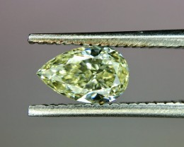 0.56 Crt GIL Certified Natural Fancy Yellow Diamond No Treated Faceted Gems