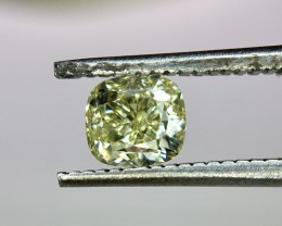 0.61 Crt IGI Certified Natural Fancy Yellow Diamond No Treated Faceted Gems