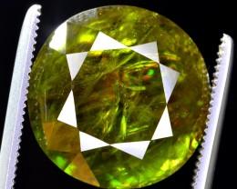 11.75 ct BRILLIANT DISPERSION GREEN SPHENE