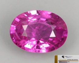 CERTIFIED-AWESOME CEYLON PINK SAPPHIRE FACETED GENUINE OVAL NR!!!