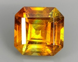 5.15 Cts_Flaming Fire Orange_Rare Spain_Sqare Cut_Sizzling Sphalerite