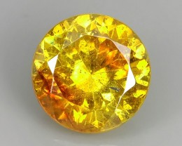5.30 Cts_Flaming Fire Orange_Rare Spain_Round Cut_Sizzling Sphalerite
