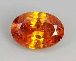 2.70 Cts Natural Fire Sunset Orange Sphalerite Oval Cut Spain Gem