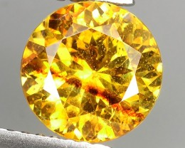 CERTIFIED~2.54 Cts Natural Top Rich Fire Sunset Yeloow Sphalerite Round !!!