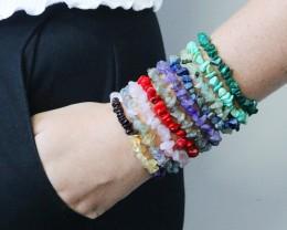 10 Beautiful Mixed Gemstone Bracelets SU 606