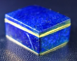 157 CT Natural lapis lazuli Carved Box Stone Special Shape