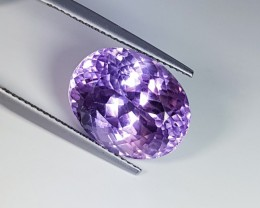 14.04 ct Beautiful Oval Cut Natural Pinkish Purple kunzite