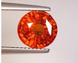 2.95 ct AAA Grade Honey Red Round Cut Natural Hessonite Garnet