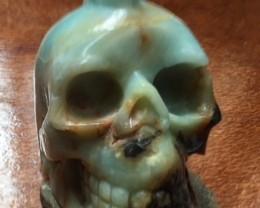 0.796 kilo Mohawk Style Amazonite  Gemstone  Skull  SU 702
