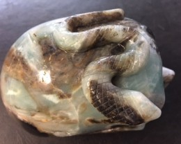 1.364 kilo Snake Style Amazonite  Gemstone  Skull  SU 706