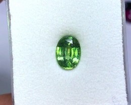 1.40 cts LIME GREEN ~ AAA RARE COLOR ~ ZIRCON GEMSTONE