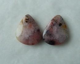 Natural Pink Opal Cabochon Pairs 22x17x5mm,5.2g(U0005)