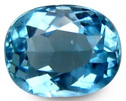1.38 ct Natural Intense Beautiful Sea Blue Aquamarine Oval Shape From Afric