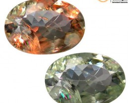 Certified Natural Color Change Chrysoberyl Alexandrite 0.67 ct