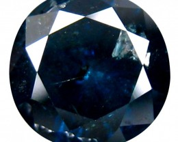 Certified Natural Round Brilliant Blue Diamond - 1.08 ct - Low Reserved