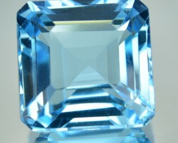 27.22 Cts Stunning Blue Topaz 16.50 mm Square Brazil Gem