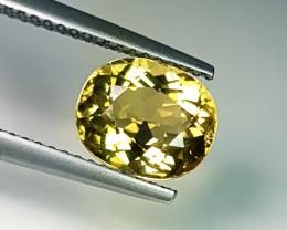 2.52 ct  Beautiful Oval Cut Amazing Yellowish Tourmaline
