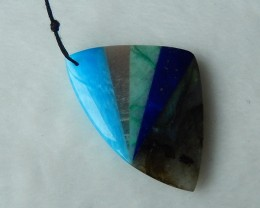 54.5ct Natural Blue Jasper, Sun Stone, Amazonite,Lapis Lazuli and Labradori
