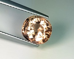2.93 ct  Excellent  Cushion Mixed Amazing Yellowish Pink Tourmaline