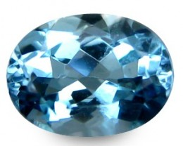 1.13 ct Natural Intense Beautiful Aquamarine Oval From India
