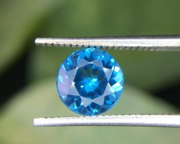 1.65 Crt Natural London Blue Topaz  Faceted Gemstone (955)
