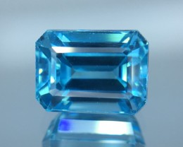 3.27 Cts Blue Zircon Awesome Color ~ Cambodia  Z3