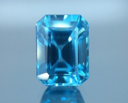 2.90 Cts Blue Zircon Awesome Color ~ Cambodia  Z4