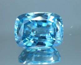 2.22 Cts Blue Zircon Awesome Color ~ Cambodia  Z9