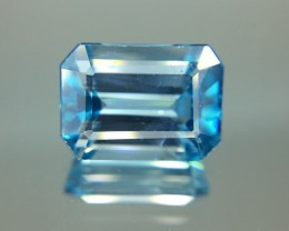3.60 Cts Blue Zircon Awesome Color ~ Cambodia  Z2