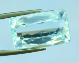 8.60 cts Radiant Cut Untreated Natural Aquamarine Gemstone From Pakistan (A