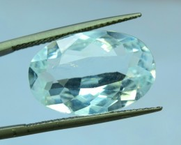 7.30 Cts Oval Shape Cut Untreated Natural Aquamarine Gemstone From Pakistan