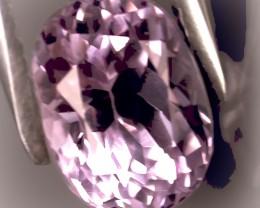 3.87ct Natural Kunzite Gem Pale Silver Pink VVS quality No Reserve