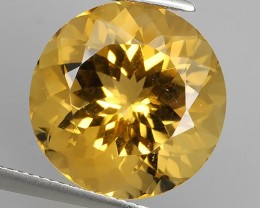 14.10 CTS DAZZLING TOP NATURAL YELLOW CITRINE 16 MM ROUND BRAZIL NR!!!