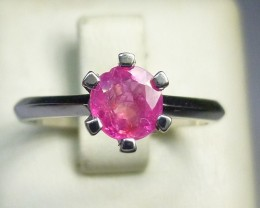White Gold  Ring Set with Burmese Ruby