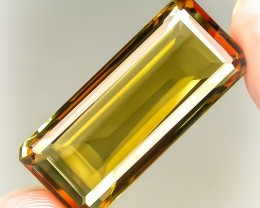 16.21ct Cognac Gold Natural Citrine Superb cut VVS