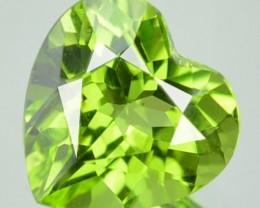 Cute Heart 2.13 Cts Natural Leaf Green Peridot Pakistan Gem