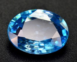 4.90 CT TOP QUALITY BEAUTIFUL BLUE COLOR ZIRCON