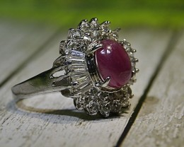 30.00 CT Natural Ruby With Beautiful Ring