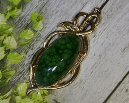 64.75 CT Beautiful Pendant Green Goblin Dragon Skin Chalcedony Agate