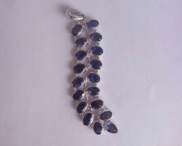 Iolite 925 Sterling silver pendant #34188