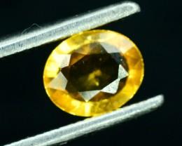 0.55 cts Oval Shape Cut Heated Yellow Sapphire Gemstone From Srilanka