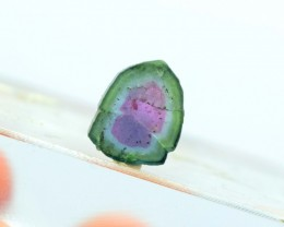 4.10 cts Perfect Both Side Polished Watermelon Tourmaline Slice From Afghan