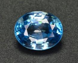 4.40 CT TOP QUALITY LUSH BEAUTIFUL   BLUE COLOR ZIRCON